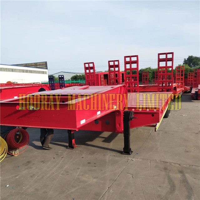 Used Heavy Equipment Transportation Low Bed Trailer