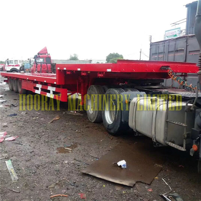 used low flat bed container semi trailer for sale