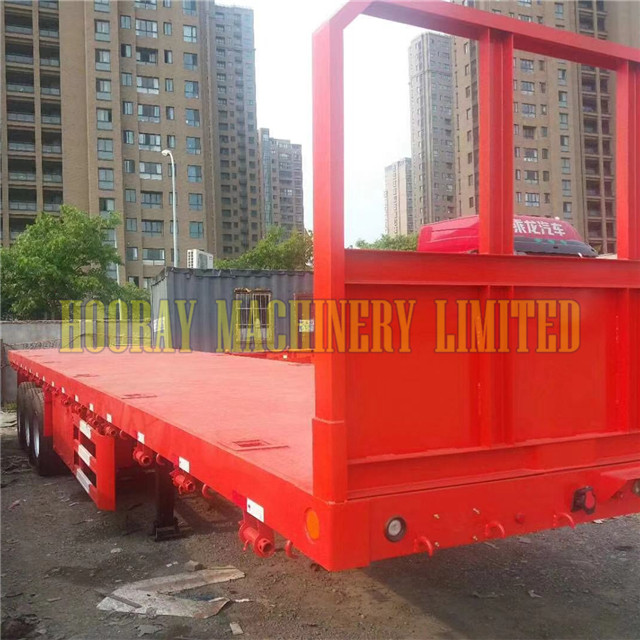 Hot products Used low flat bed semi trailer