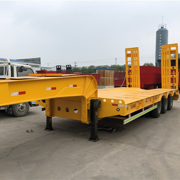 Heavy duty 3 axles used low bed trailer for sale