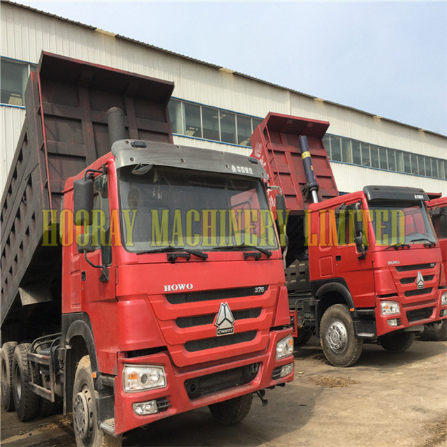 Sinotruk 6x4 375 hp Howo Used Dump Truck For Sale