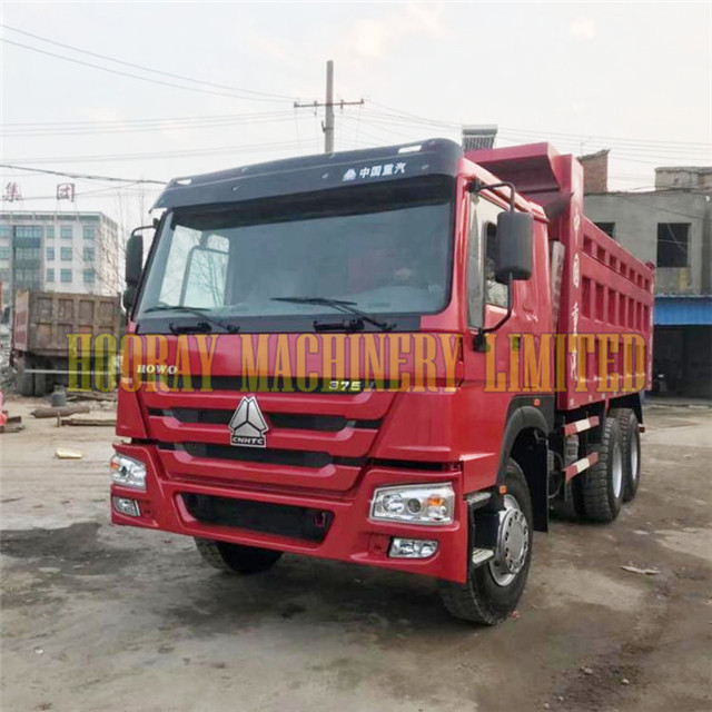 Used 6x4 375 hp Sinotruk Howo Dump Truck for sale